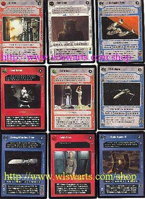Star Wars CCG Official Tournament Sealed Deck Exclusive Set Of 18 Cards! SEALED!