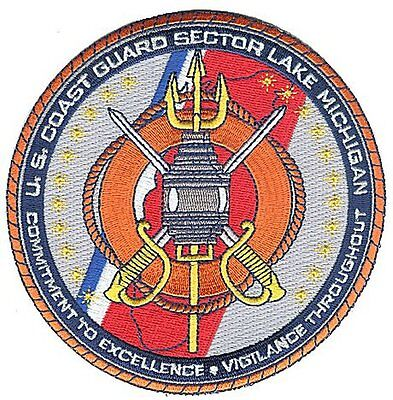 Sector Lake Michigan Milwaukee Wisconsin W4937 USCG Coast Guard patch