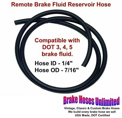 "REMOTE BRAKE FLUID RESERVOIR HOSE, 1/4"" ID - Sold by the Foot, see description"
