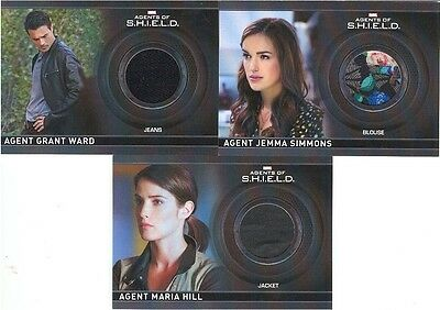 Agents Of S.H.I.E.L.D. CC5/CC6/CC9 MATCHING NUMBER Lot Of 3 Costume Cards 237!