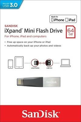 SanDisk SDIX40N-064G 64GB iXpand Mini USB 3.0 Lightning Flash Drive For iPhone
