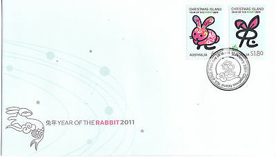 2011 Christmas Island Year Of The Rabbit FDC - Gummed