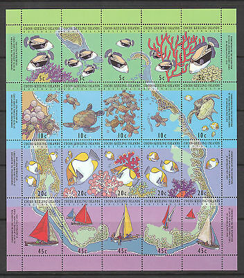1994 Map of Cocos Islands - MUH Sheetlet of 20 Stamps