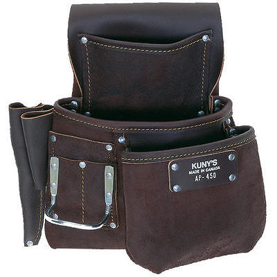 KUNYS Journeyman AP450 Full Grain Waterproof Leather Nail Hammer Tool Belt Pouch