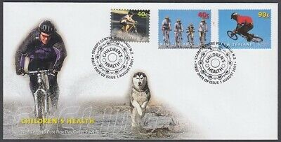 NEW ZEALAND FDC 2001 HEALTH 3 STAMPS