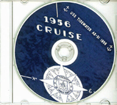 USS Tidewater AD 31 1956 Med Cruise Book CD RARE