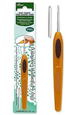 Clover Soft Touch Steel Lace Crochet Hook 0.5mm - 1.75m