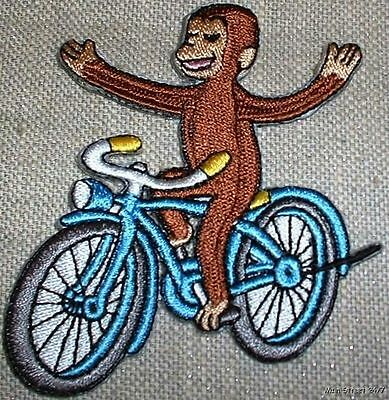 """CURIOUS GEORGE 2 5/8"""" Cartoon Figure Embroidered PATCH"""