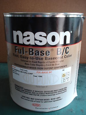 Auto Body Paint Nason/dupont Fleet White Basecoat Clear