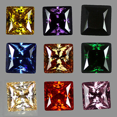 Princess Cut Cubic Zirconia - Colour & Size Choice