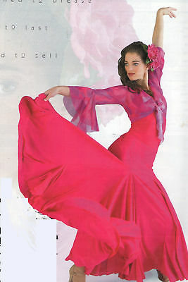 NWT FLAMENCO SKIRT DOUBLE GODET Solid Color ch/adult Praisewear 6 colors offered