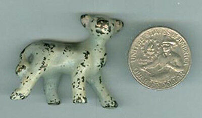 """Old Cast Iron Calf Paperweight Small 1 1/4"""" High Pw4"""