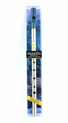 Brass Feadog D Note Irish Tin Penny Whistle PACK NEW FW01