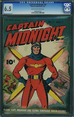 Cgc Captain Midnight (Fawcett)#  8  Fn+ 6.5 1943