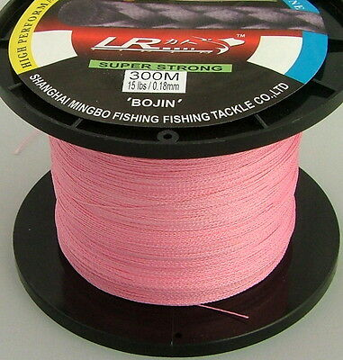 Lr Braid Fishing Line 15Lb 300M Pink, Made From 100% Uhmwpe Dyneesi