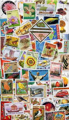 FINE COLLECTION OF 200 DIFFERENT STAMPS FROM BENIN!