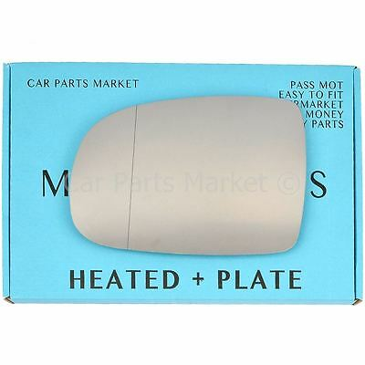Left side Wide Angle Wing mirror glass for Vauxhall Corsa C 2001-06 heat + plate