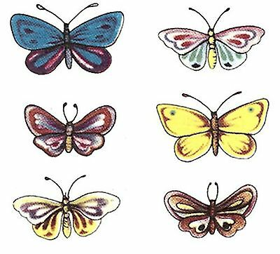 12 Cute Butterfly Select Size Waterslide Ceramic Decals Bx