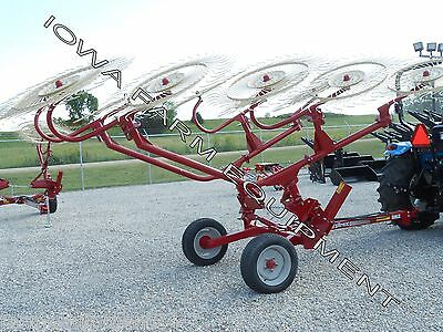 SITREX H90/V10, 10 Wheel Caddy Hay Rake, Carted Hay Rake: 23' Working Width
