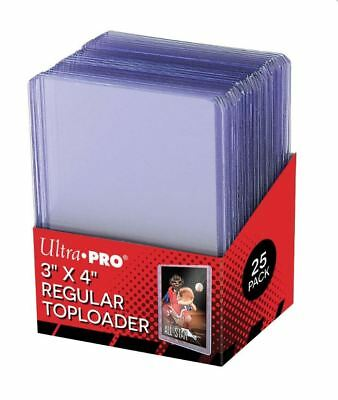 (25) Ultra-Pro Regular Trading Card Toploader Holders Sports, Gaming Cards