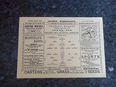 1897 Fa Cup Final Reprint Aston Villa V Everton
