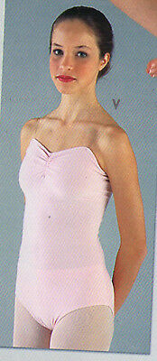 NWT CLEAR STRAP LEOTARD PINCHFRONT DANCE COLORS Matte