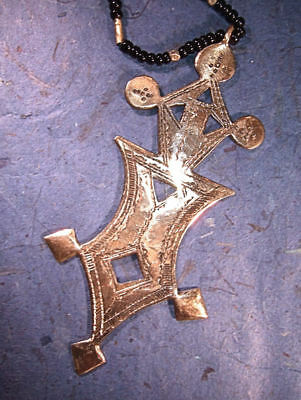 African Tuareg Cross necklace Africa handmade L th3