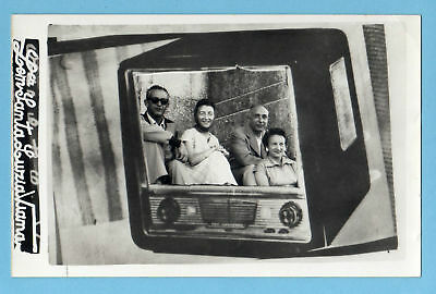 Old Vintage Photo PHOTOMONTAGE radio PORTUGAL VIANA