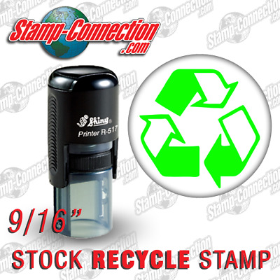 Shiny 517R RECYCLE Self-Inking Stamp (GREEN)