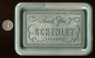 Old Schenley Reserve Whiskey Tip Change Tray * Now On Sale + Free Ship * Ad529