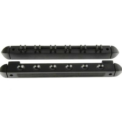 2 Piece Black Pool/snooker Cue Rack Holds 6 Cues
