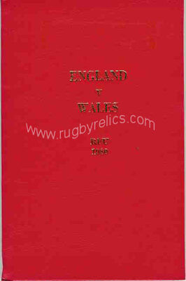 ENGLAND v WALES 1980 SPECIAL EDITION RUGBY PROGRAMME