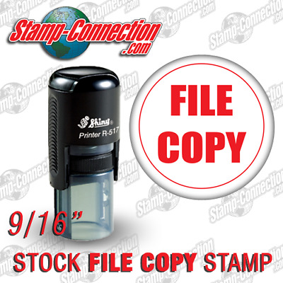 Shiny 517R Self-Inking FILE COPY Stamp RED
