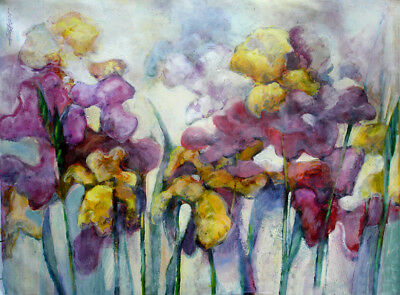 Colorful Orchids - Large Canvas  36x48 in. Oil on canvas  Hall Groat Sr.