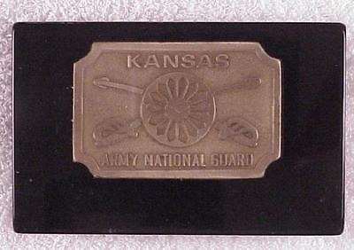 Paperweight: Kansas Army National Guard, oval