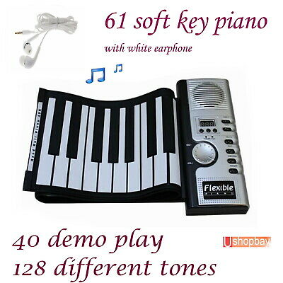 Soft Keyboard Portable Folding Electronic Musical Roll Up Piano 61 keys