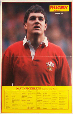 David Pickering Llanelli & Wales Rugby Poster Series