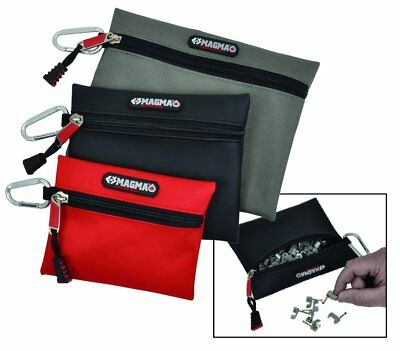 CK MAGMA 3 Pack Tool Belt Pocket Bag/Case/Pouch/Rucksack & Carabiners, MA2725