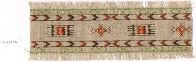 Southwestern Rug Pattern Embroidery Applique Strip