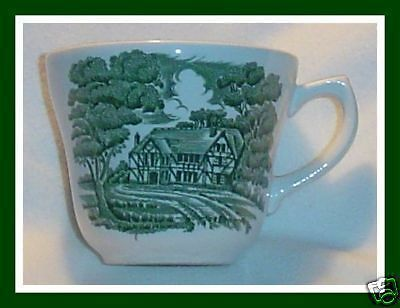 ENGLISH COUNTRY INNS Green Cup TOILE TRANSFERARE