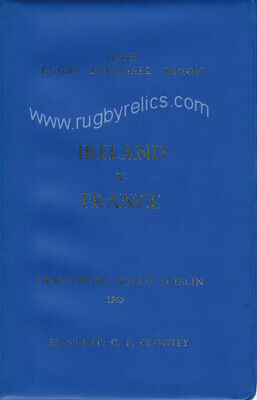 IRELAND v FRANCE 25 Jan 1967 SPECIAL EDITION RUGBY PROGRAMME