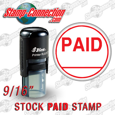 Shiny 517R PAID Self-Inking Stamp (RED)