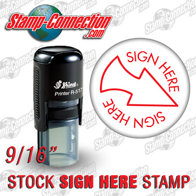 Shiny 517R SIGN HERE Self-Inking Stamp (RED)