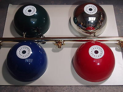 Pool/snooker Brass Rail Light With Various Bowl Colours