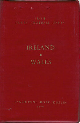 IRELAND v WALES 1966 SPECIAL EDITION RUGBY PROGRAMME