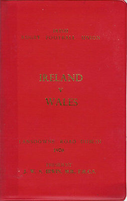 IRELAND v WALES 1970 SPECIAL EDITION RUGBY PROGRAMME