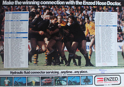 Enzed Fluid Connectors New Zealand Rugby Poster ***rare***