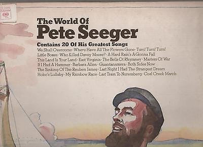 THE WORLD OF PETE SEEGER  columbia CG 31949   2 LP USA
