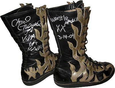 Wwe Chavo Guerrero Wmxx Ring Worn Boots Signed W/proof