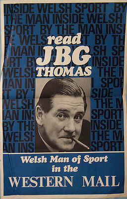 Read Jbg Thomas ''welsh Man Of Sport'' Rugby Poster